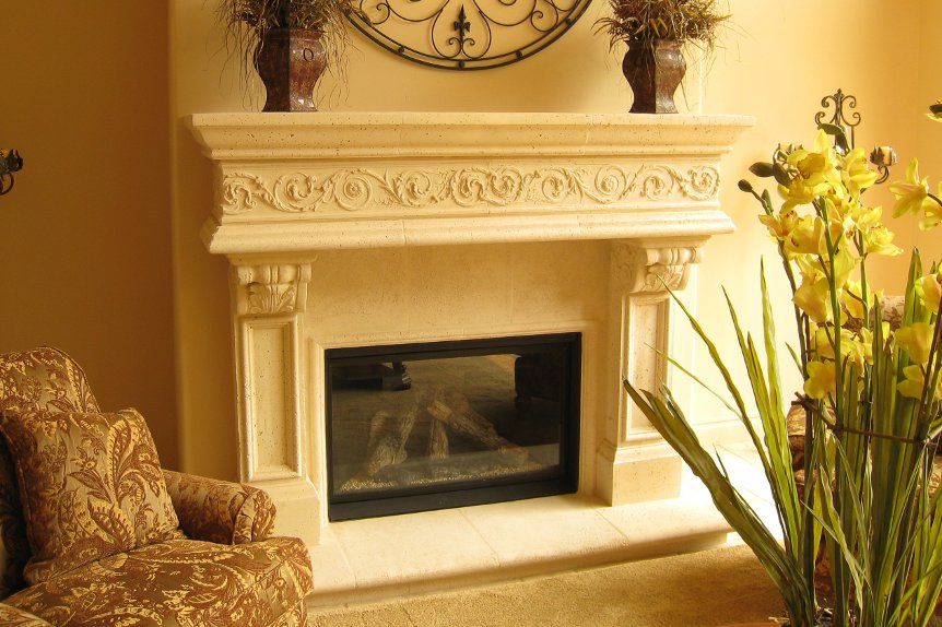 Cast Stone Mantels Beverly Hills