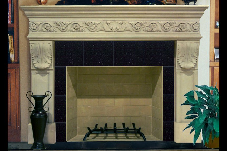 Cast Stone Mantels Beverly Hills 6