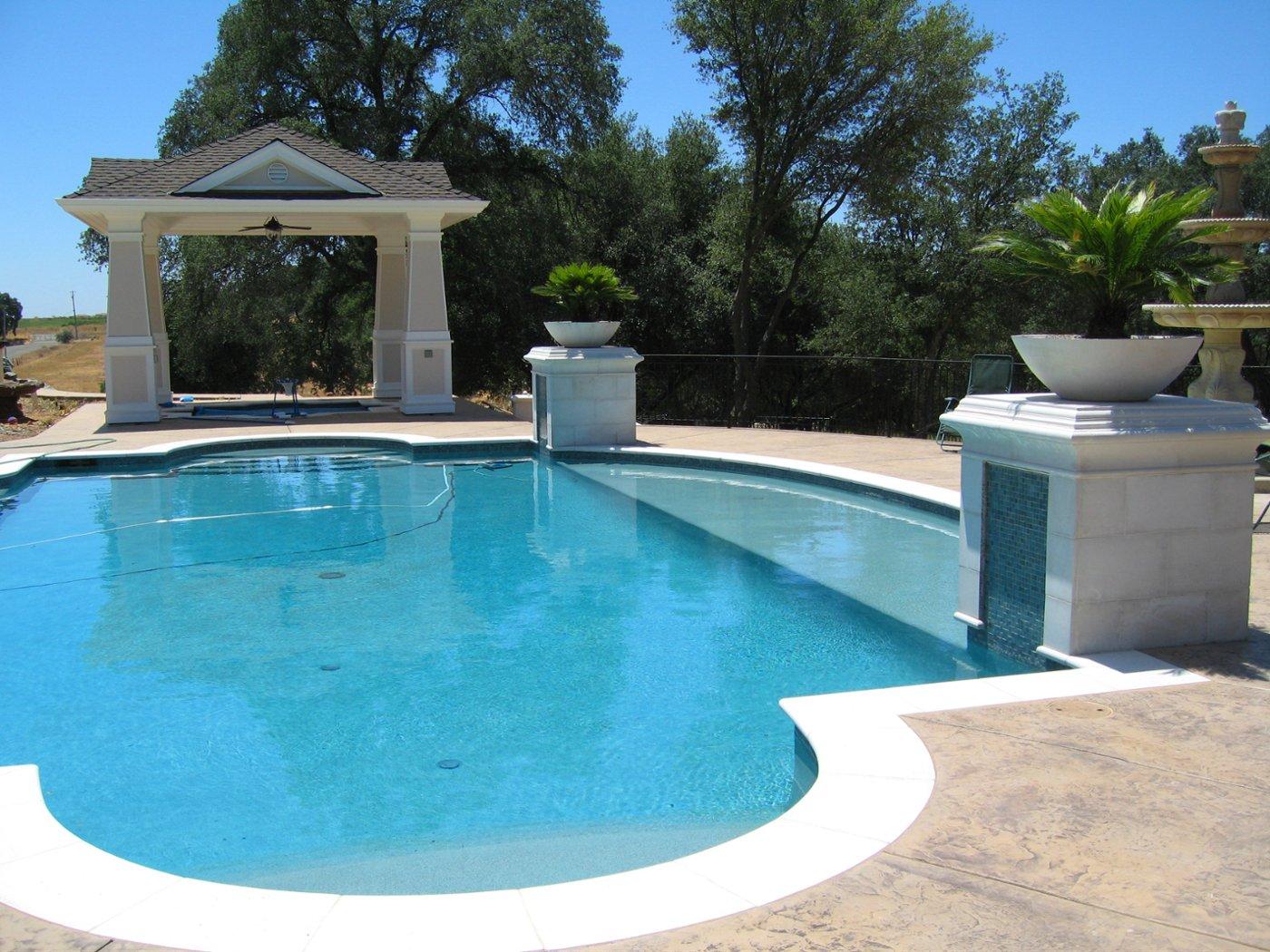 cast stone pool coping photo album